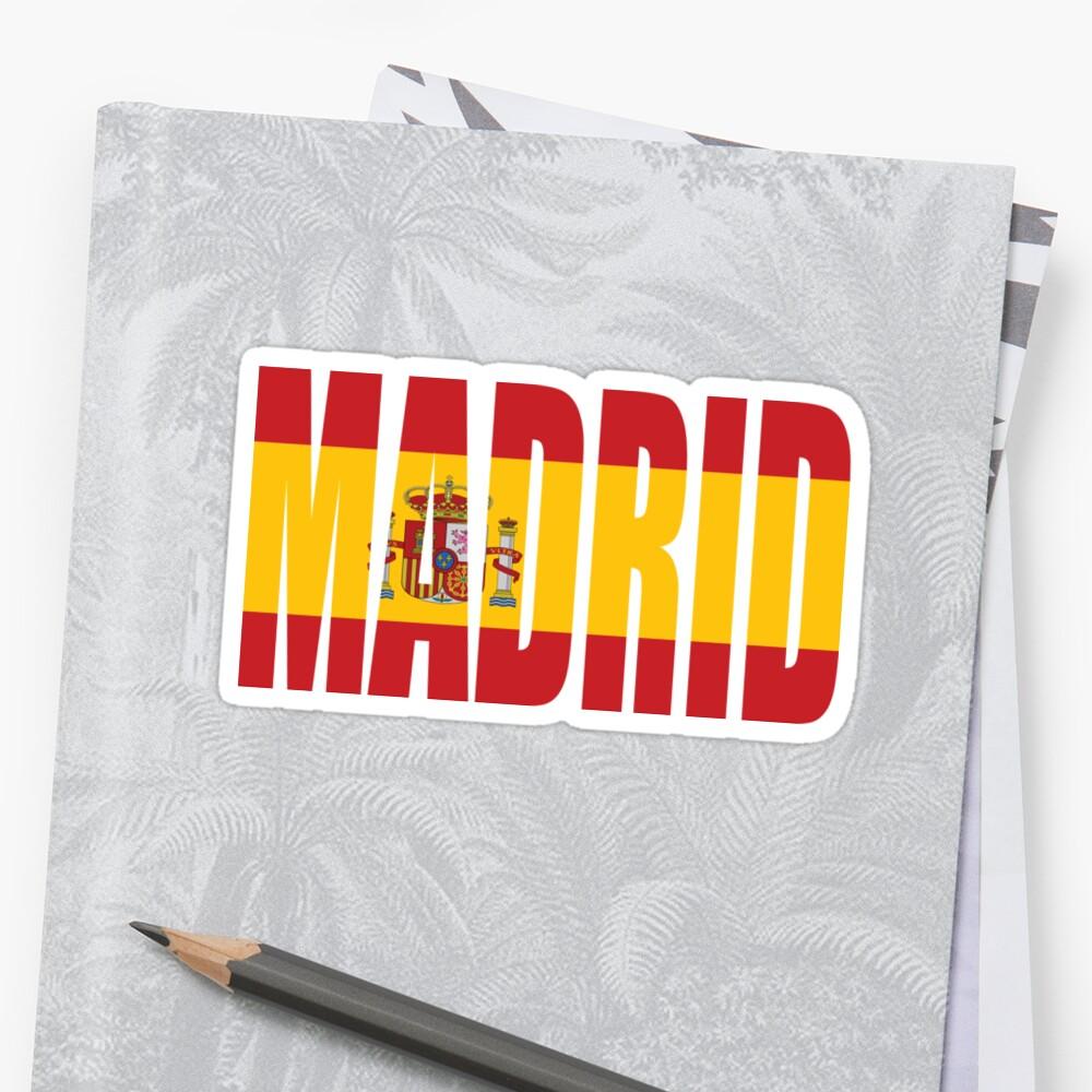 Madrid. Pegatina