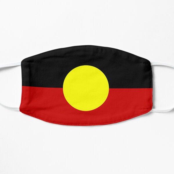 Australian aboriginal Flag Colours Flat Mask