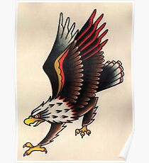 American Traditional Eagle Poster