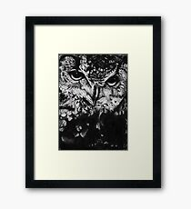 Owl drawing photorealistic Framed Print