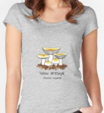 Yellow brittlegill (without smiley face) Women's Fitted Scoop T-Shirt