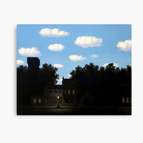 The Empire of Light II, Magritte (HQ) Canvas Print