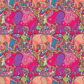 Elephant ornamental colorful by anvino