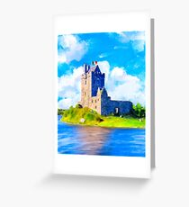 Stirring Irish Castle On The Shores of Galway Bay - Dunguaire Greeting Card