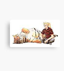 Real Calvin and Hobbes Canvas Print