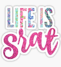 "lilly print ""life is srat"" Sticker"