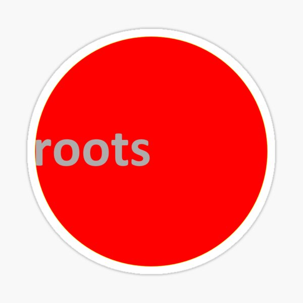 Roots Climbing RED DOT Tee.  Sticker