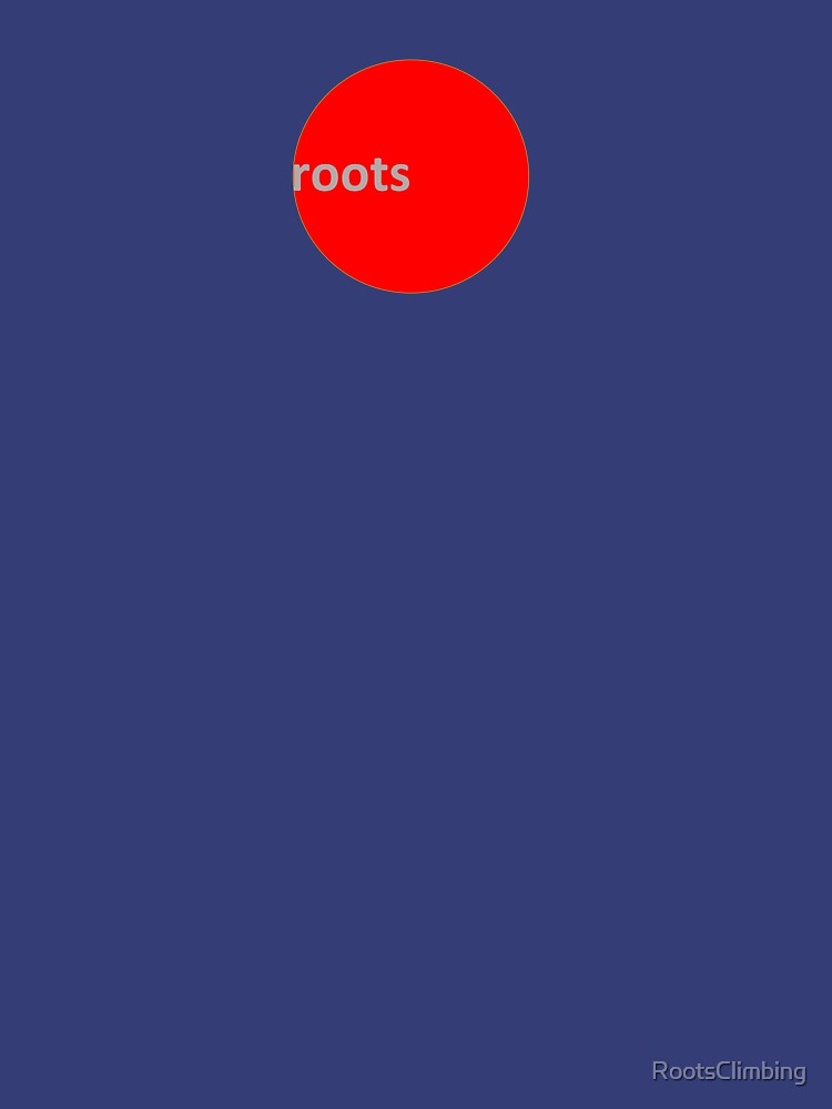 Roots Climbing RED DOT Tee.  by RootsClimbing