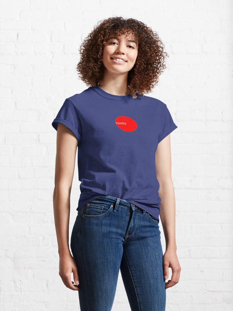 Alternate view of Roots Climbing RED DOT Tee.  Classic T-Shirt