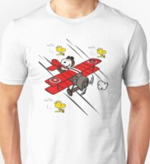 Snoopy Flying A Biplane T-shirt