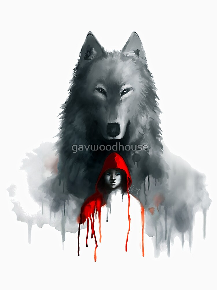 Little Red and Wolf by gavwoodhouse