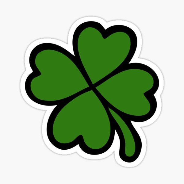 Lucky Four Leaf Clover Pattern Sticker