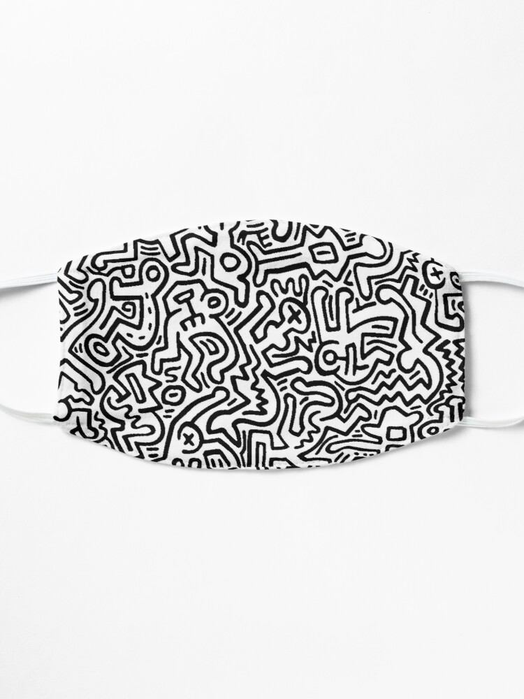 Alternate view of pattern black and white Mask