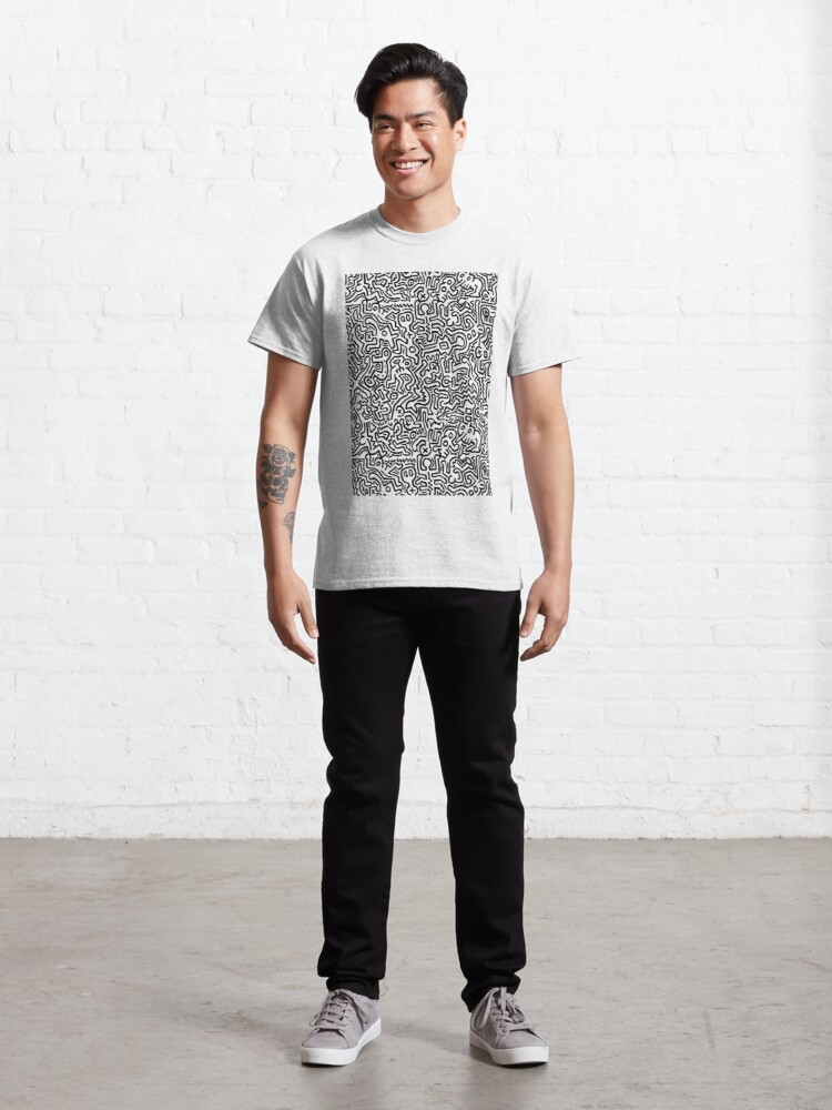 Alternate view of pattern black and white Classic T-Shirt