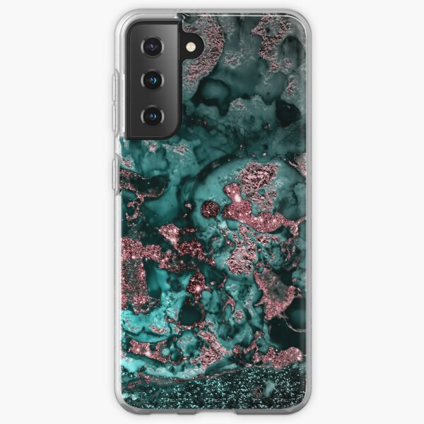 Pink And Emerald Marble  Samsung Galaxy Soft Case