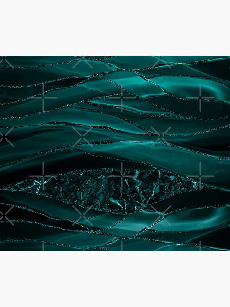 Emerald  Green Glamour Marble And Agate Landscapes by MysticMarble
