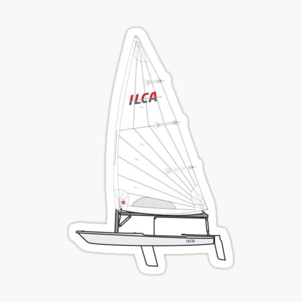 ILCA Standar MK2 Sailboat Sticker