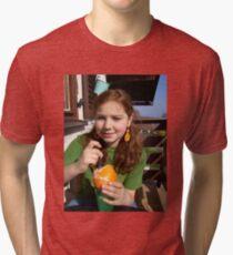 Lucinda on the balcony Tri-blend T-Shirt