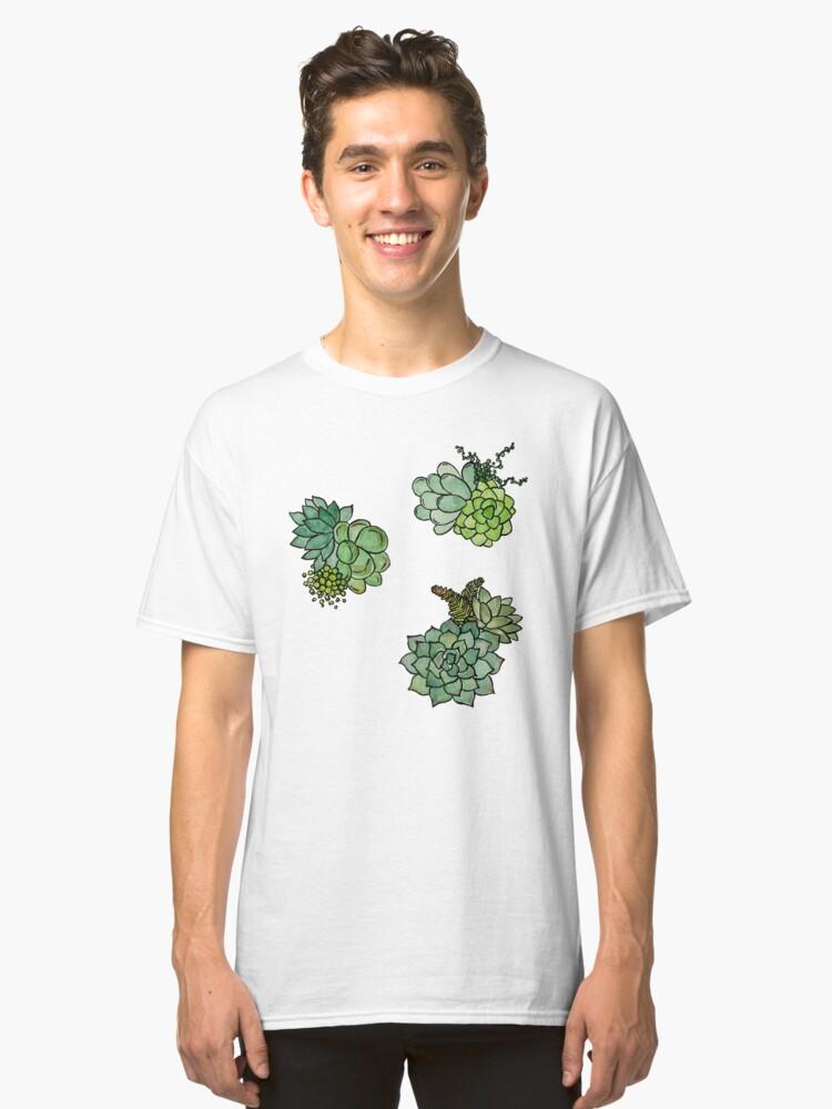Fresh Succulent Pattern Classic T-Shirt Front