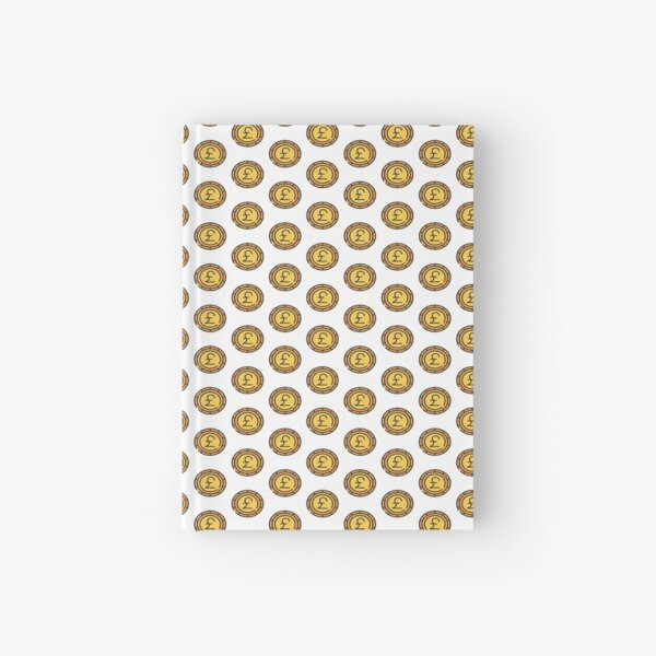 Pound Coin Icon Hardcover Journal