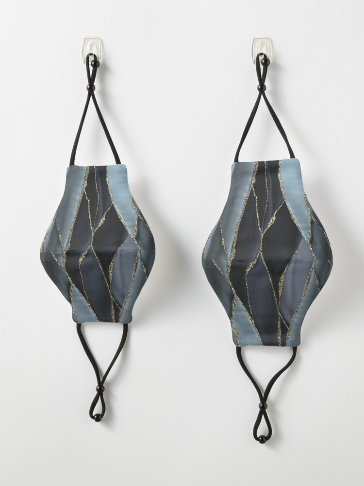 Alternate view of Black And Gray Gold Marble Agate landscapes Mask