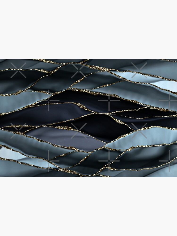 Black And Gray Gold Marble Agate landscapes by MysticMarble