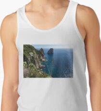 Faraglioni Sea Stacks and Agave Bloom Spikes - the Magic of Capri, Italy Tank Top