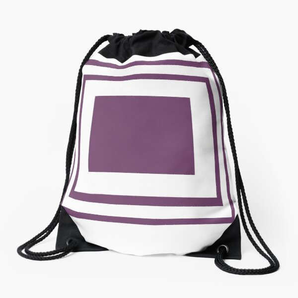 Poolside Party Purple Squares Drawstring Bag