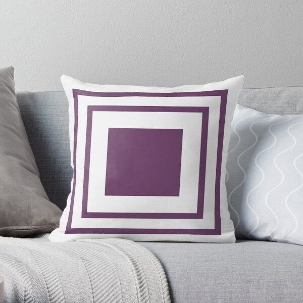 Poolside Party Purple Squares Throw Pillow