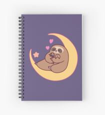 Moon Mama and Baby Sloths Spiral Notebook