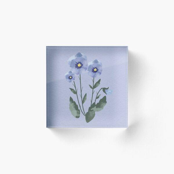 Pansies Acrylic Block
