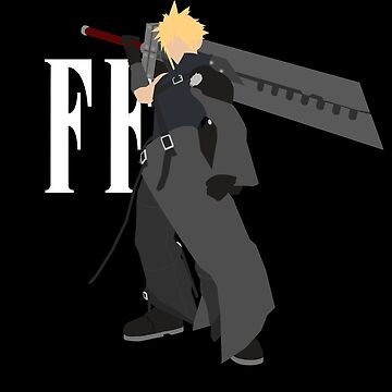 Cloud Strife Vector/Minimalist (Advent Children, White Logo) by Alseias