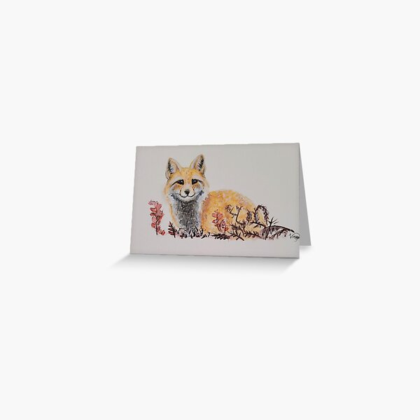 a serene fox Greeting Card