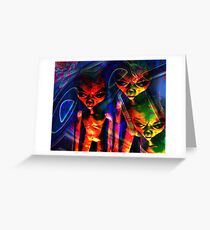 What Are Those Earthlings Doing Now? Greeting Card