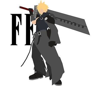 Cloud Strife Vector/Minimalist (Advent Children, Black Logo) by Alseias