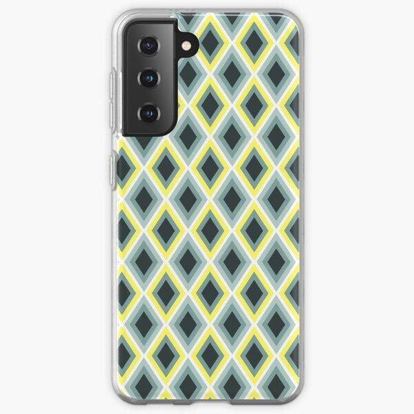 Foggy Morning Diamonds_ikat pattern Samsung Galaxy Soft Case