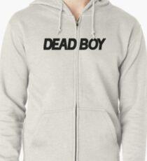 DEAD BOY BLACK Zipped Hoodie