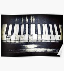 Broken Piano Keys Posters