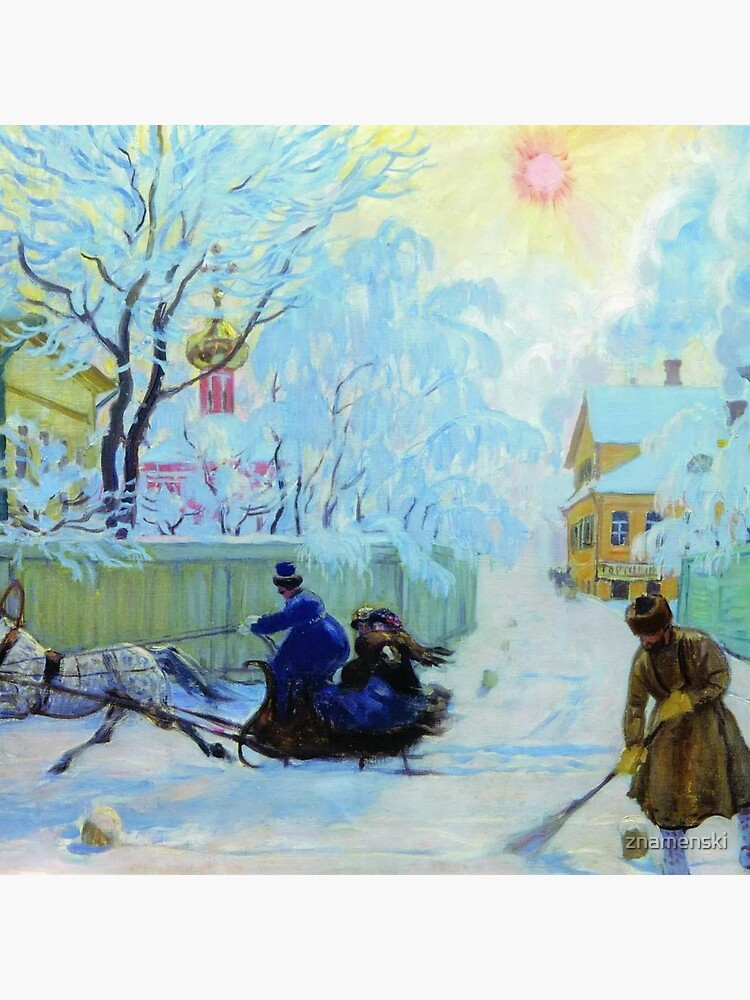 Boris Kustodiev Frosty Day, 1913 - Frosty Morning by znamenski