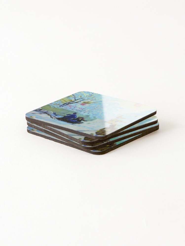 Alternate view of Boris Kustodiev Frosty Day, 1913 - Frosty Morning Coasters (Set of 4)