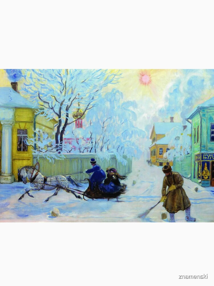 Boris Kustodiev Frosty Day, 1913 - Frosty Morning by znamenski