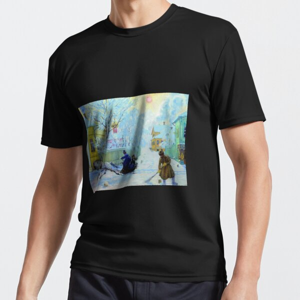 Boris Kustodiev Frosty Day, 1913 - Frosty Morning Active T-Shirt