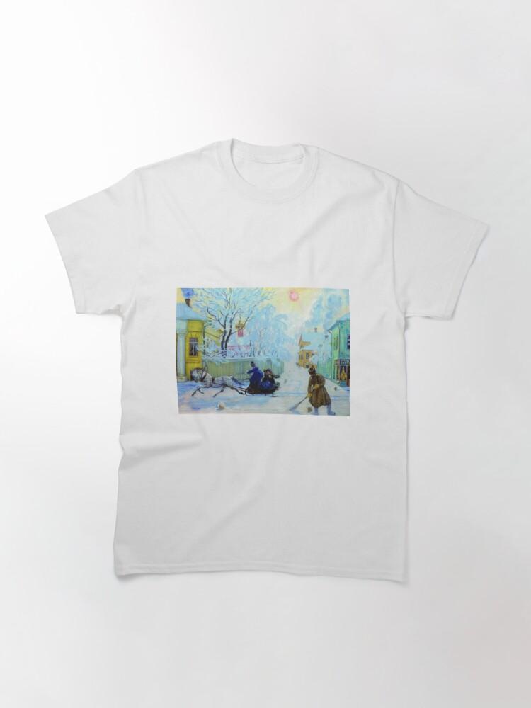 Alternate view of Boris Kustodiev Frosty Day, 1913 - Frosty Morning Classic T-Shirt