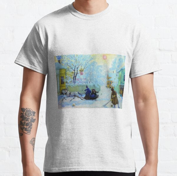 Boris Kustodiev Frosty Day, 1913 - Frosty Morning Classic T-Shirt