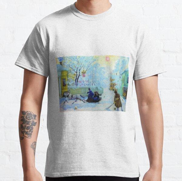 Boris Kustodiev Frosty Day, 1913 - Frosty Morning Classic T-Shirt