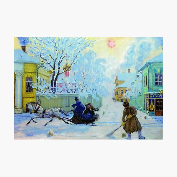 Boris Kustodiev Frosty Day, 1913 - Frosty Morning Photographic Print