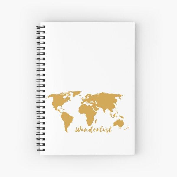Wanderlust World Map Spiral Notebook