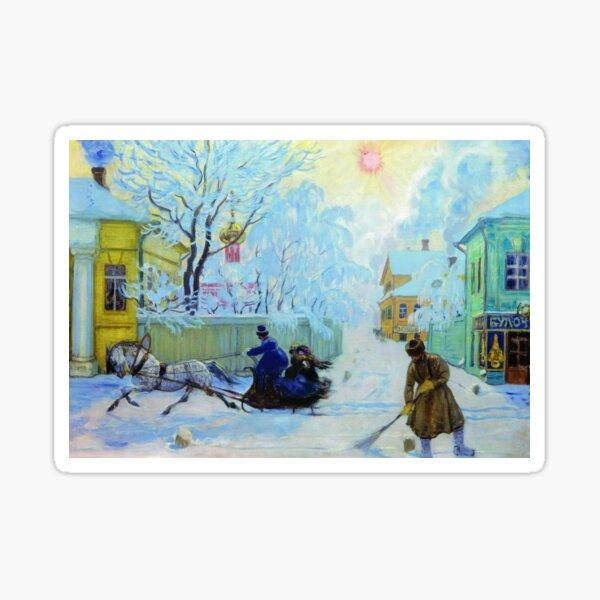 Boris Kustodiev Frosty Day, 1913 - Frosty Morning Sticker