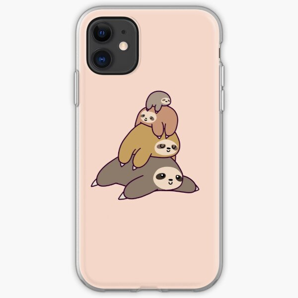 Sloth Stack iPhone Soft Case