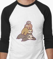 Sloth Stack Men's Baseball ¾ T-Shirt